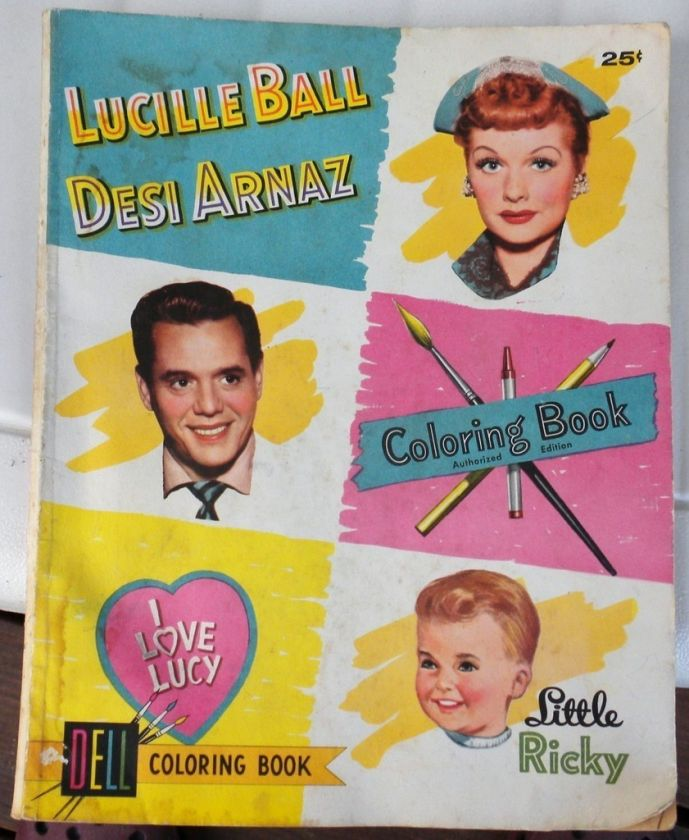 LOVE LUCY LUCILLE BALL DESI ARNAZ LITTLE RICKY 1955 Dell COLORING
